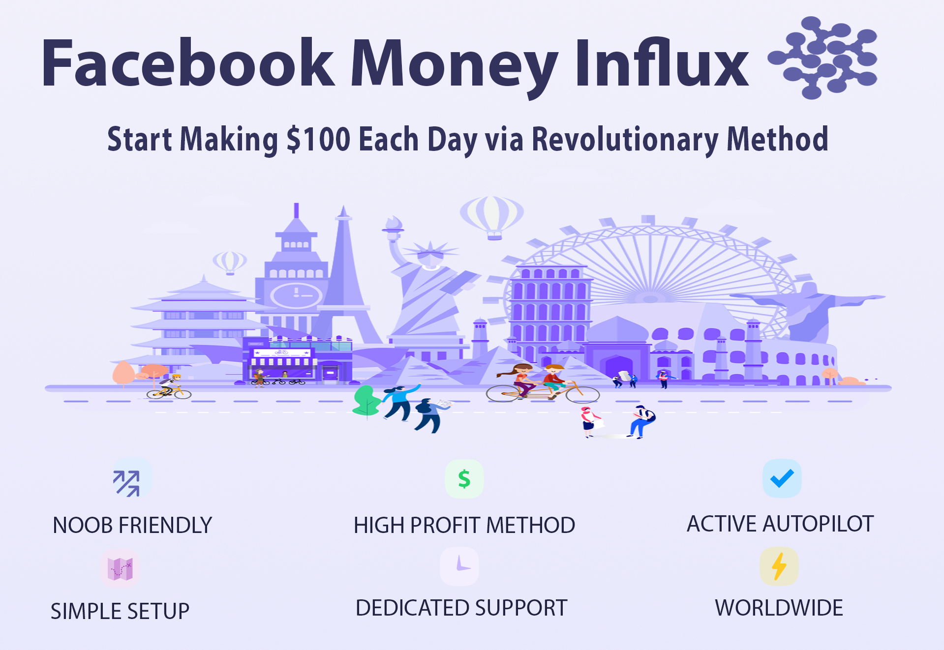 facebook money influx popup